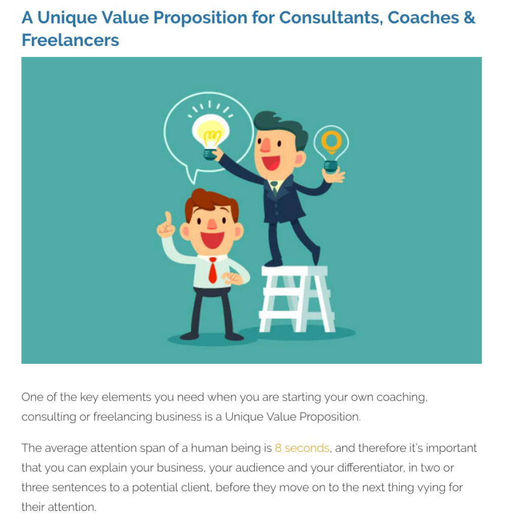 Blog – A Unique Value Proposition for Consultants, Coaches and Freelancers